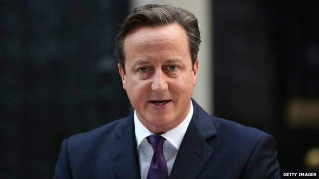 """英国首相卡梅伦说,""""现在是联合王国团结一致,迈步向前的时候了。"""""""