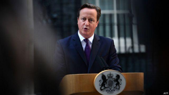 Thủ tướng Anh phát biểuở Downing Street ngay sau khi có kết quả bỏ phiếu