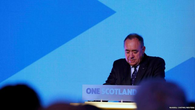 Ông Alex Salmond nói ông chấp nhận thua cuộc. Lãnh đạo chiến dịch ủng hộ độc lập cho biết 1.6 triệu người bỏ phiếu 'Yes' cho thấy có lượng người đáng kể muốn độc lập cho Scotland trong tương lai.