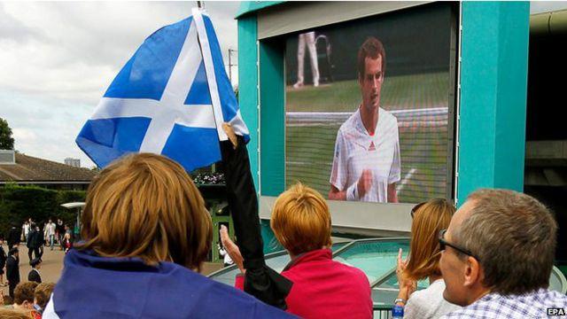 O tenista número um da Grã-Bretanha é o maior ídolo esportivo da Escócia no momento