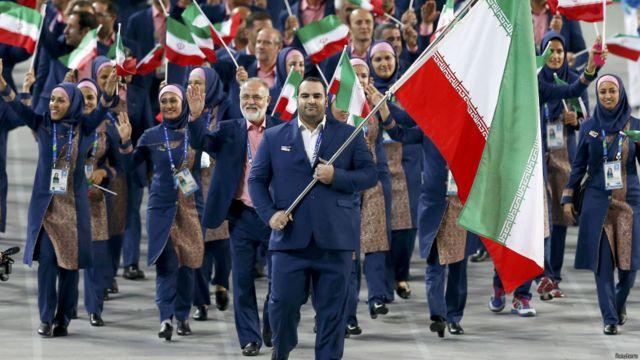 بهداد سلیمی پرچمدار ایران در مراسم افتتاحیه بود