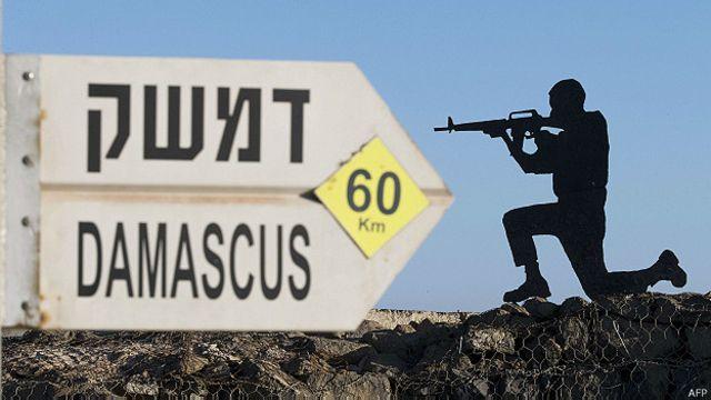escultura de un soldado con señal de Damasco