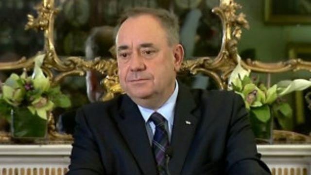 Le premier ministre écossais Alex Salmond