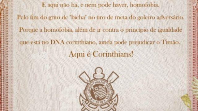 Manifesto do Corinthians / Crédito: BBC