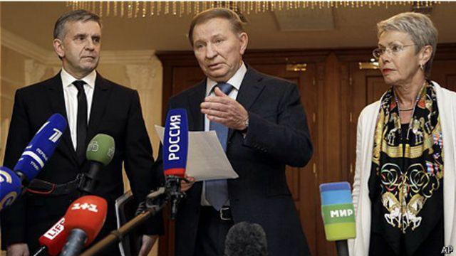 Cựu Tổng thống Leonid Kuchma đại diện cho Kiev tại cuộc đàm phán