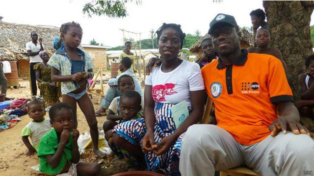 Família de Kouayou | Foto: BBC