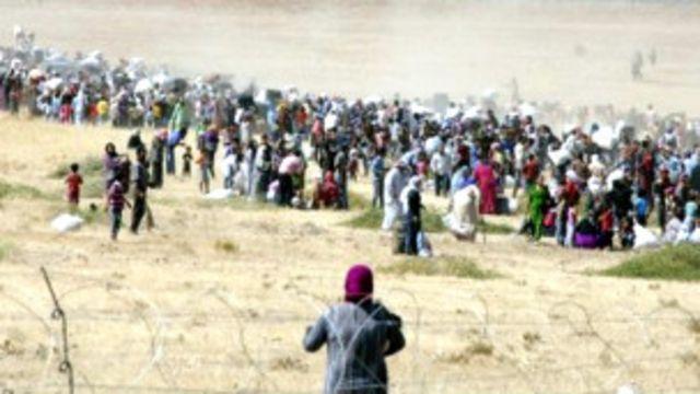 له تېرو درو کلونو راهیسې په سوریه کې د واکمن نظام پرضد پاڅون له پیلېدا راهیسې ترکیې ته تر ۸۷۴ زرو ډېر کډوال اوشتي.