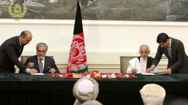 موافقتنامه تشکیل دولت وحدت ملی افغانستان امروز امضا شد.