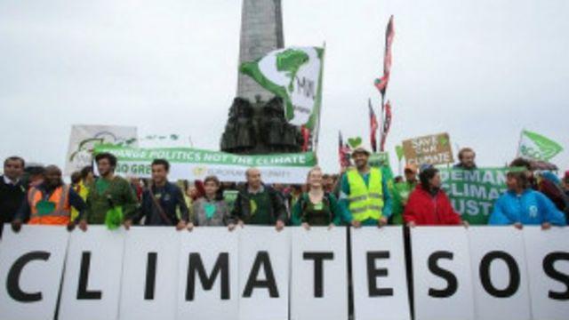 Des  manifestations ont été organisées ce 21 septembre 2014 dans quelque 160 pays, en vue de mesures d'urgence concernant le climat.