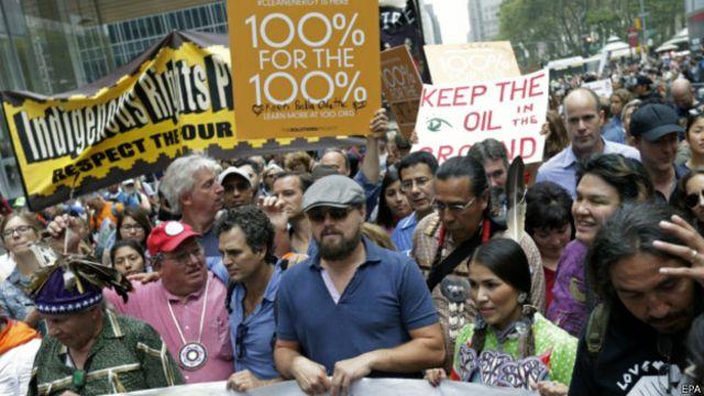 Leonardo DiCaprio e Mark Ruffalo em Nova York | Foto: EPA