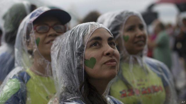 Manifestantes no Rio, dia 21 de setembro de 2014 | Foto: AP