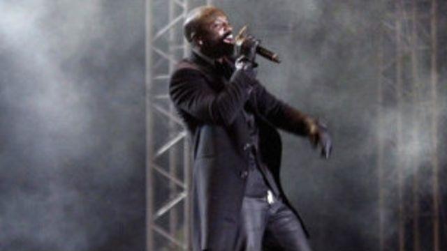 La star du R'n'B Akon en concert (Archives).