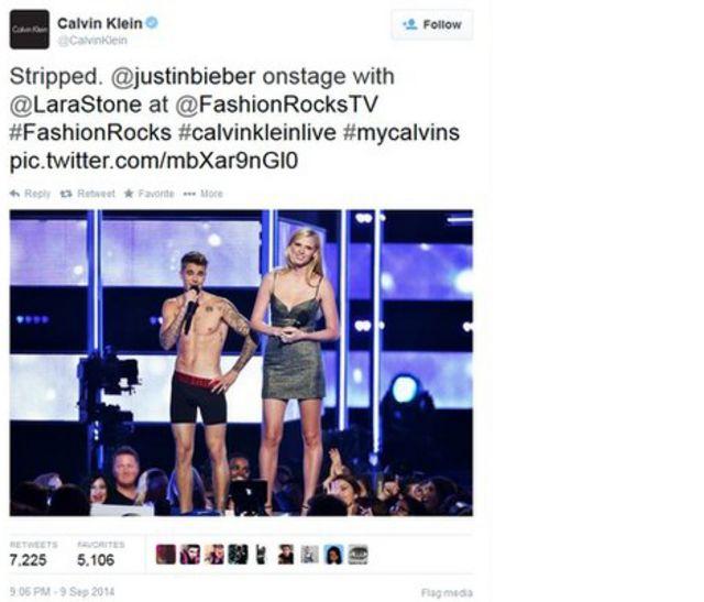 Justin Bieber en ropa interior fue lo más tuiteado.