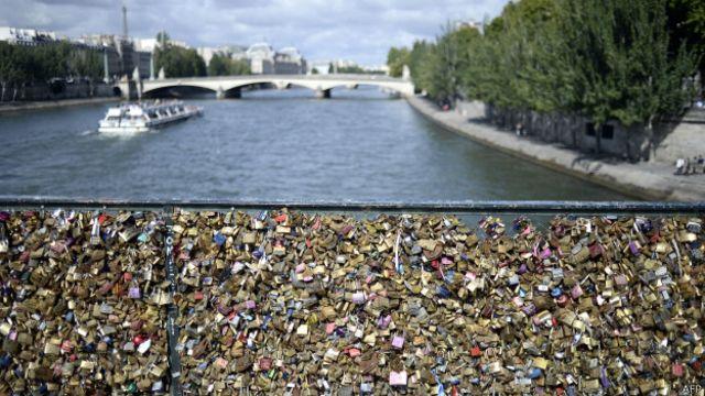 Pont des Arts, em Paris, em agosto de 2014 | Foto: Divulgação
