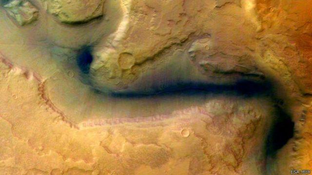 Foto satelital de Marte