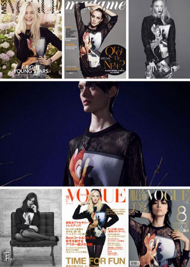 小鹿斑比包揽各时尚杂志封面