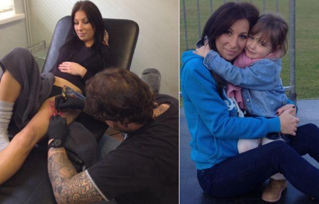 Karla Valentina com tatuagens e sem.