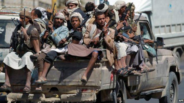 مسلحون تابعون للحوثيين
