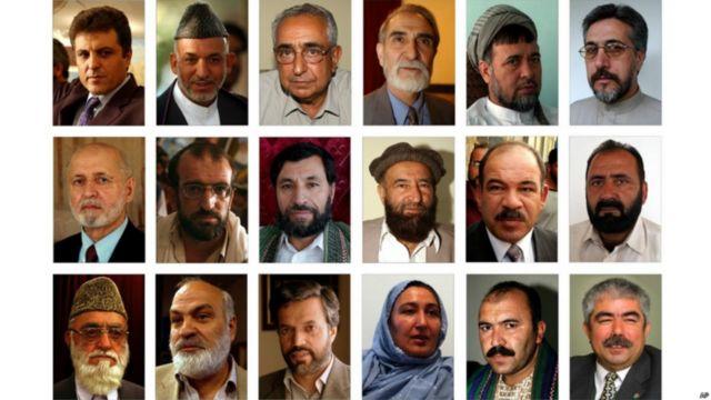 پس از یک دوره حکومت موقت و حکومت انتقالی آقای کرزی خود را برای نامزدی در نخستین انتخابات ریاست جمهوری افغانستان که در سال ۲۰۰۴ برگزار شد؛ نامزد کرد. او با هفده رقیب به میدان آمد و پیروز انتخابات شد.