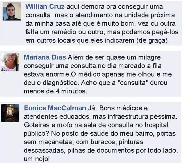 Leitores da BBC Brasil se dividiram entre elogios e críticas ao sistema de saúde público