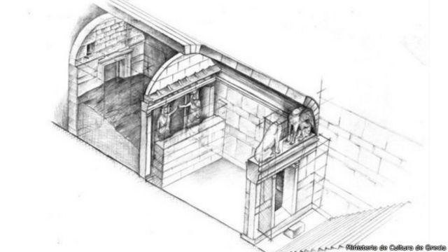 Diseño del interior de la tumba