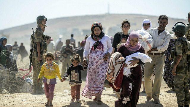 近月來「伊斯蘭國」組織攻佔了伊拉克和敘利亞大片地區,大批庫爾德難民在「伊斯蘭國」武裝到達前逃亡。