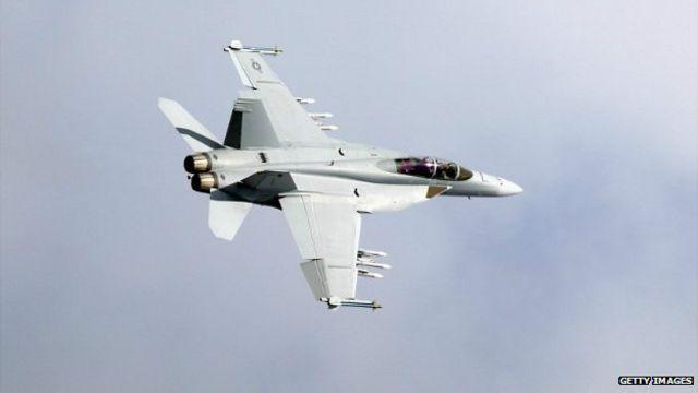 Avión caza F22 (foto de archivo)