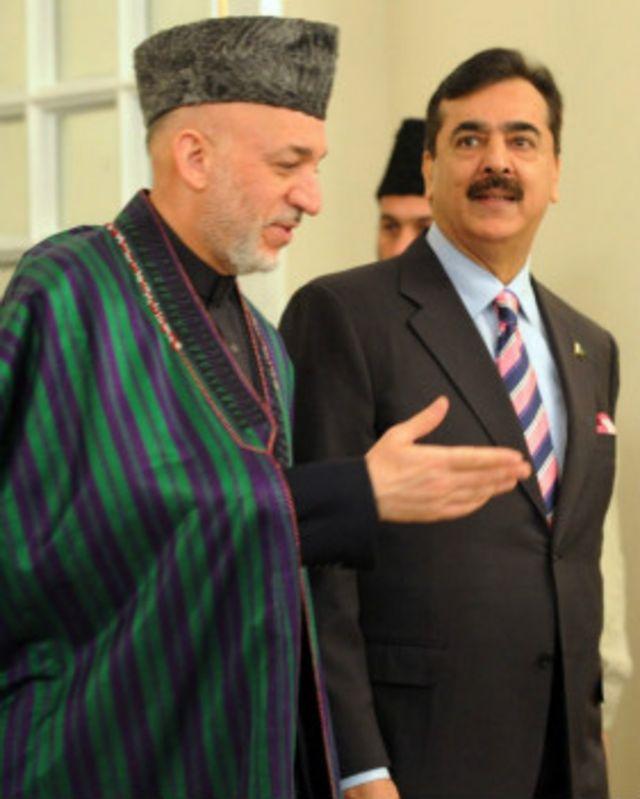 کرزی و گیلانی نخست وزیر سابق پاکستان