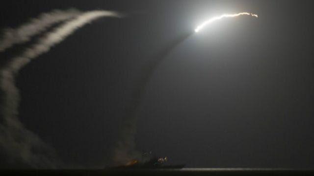 استخدمت صواريخ كروز في الهجمات على مواقع تنظيم الدولة الإسلامية في سوريا.