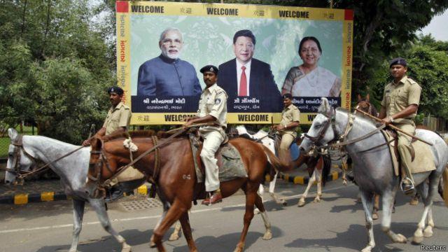 中國國家主席習近平和印度總理莫迪
