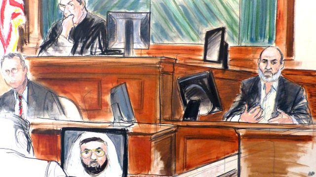 सुलेमान अबू गेथ की अदालत में सुनवाई