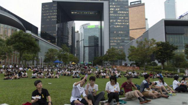 香港学联发起的为期五天的大专院校学生罢课行动已进入第三天