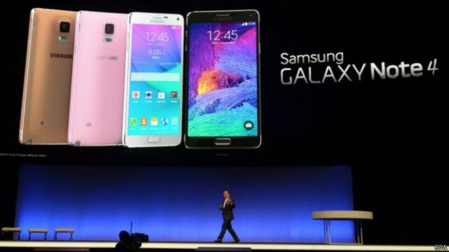 三星Galaxy Note 4在德国柏林国际消费类电子产品展览会上亮相(3/9/2014)
