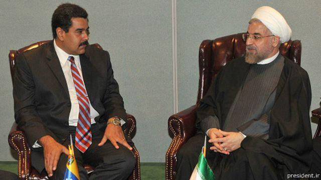 روحانی و نیکلاس مادورو، رئیس جمهوری ونزوئلا