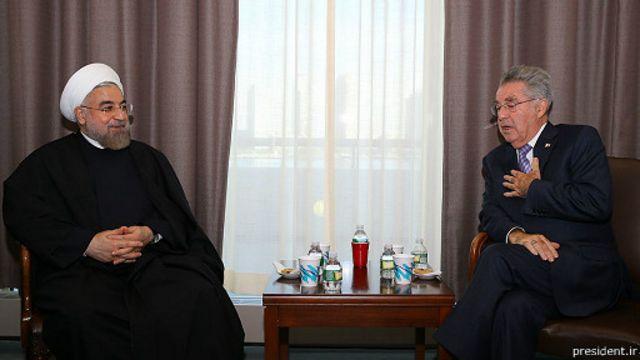روحانی و هانس فیشر، رئیس جمهوری اتریش