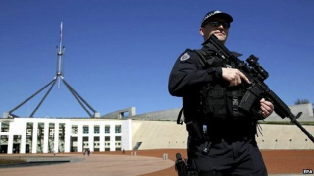 تتزايد مخاوف تعرض أستراليا لهجمات إرهابية نتيجة لمشاركتها في قتال الجماعات المسلحة في الشرق الأوسط