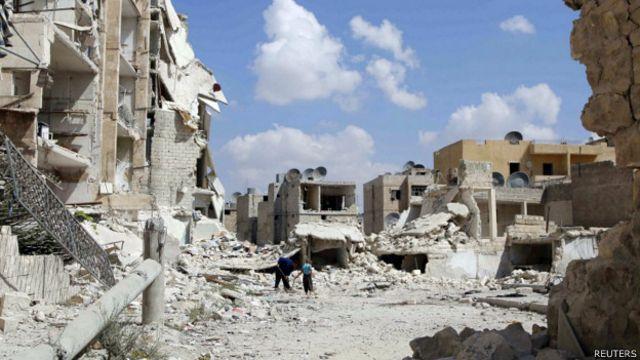 सीरिया में हवाई हमले