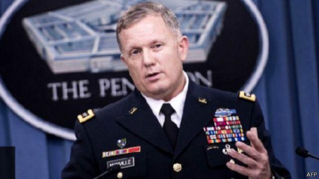 قال الجنرال ويليام مايفيل إن الغارات الجوية استهدفت جماعة خراسان المرتبطة بالقاعدة