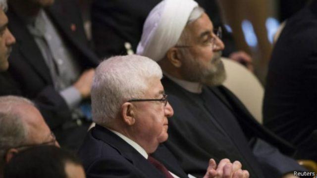 الرئيس العراقي فؤاد المعصوم ونظيره الإيراني حسن روحاني كانا من بين العديد من القادة الذين شاركوا في قمة المناخ
