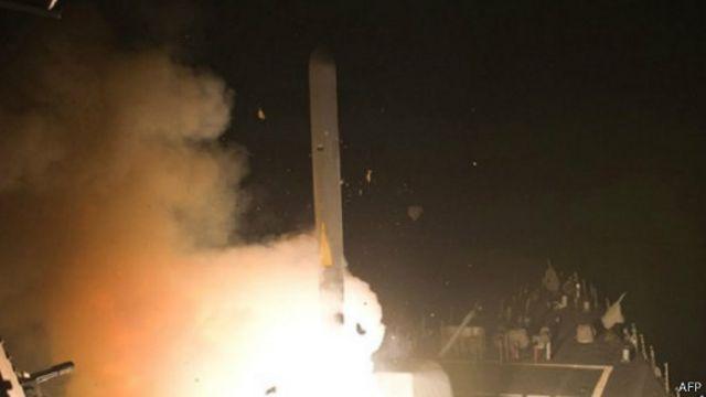 أطلقت صواريخ توماهوك كروز من سفن حربية خلال الهجوم على جماعة خراسان