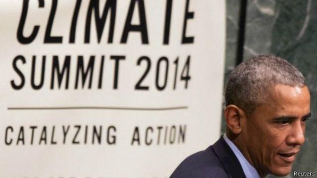 أوباما يؤكد على ضرورة اتباع مسار جديد في مكافحة التغير المناخي