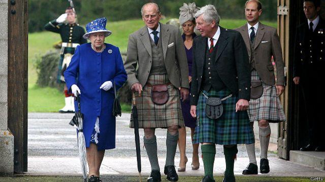 Королевская семья в замке Балморал