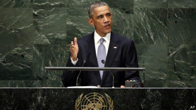 تطرق الرئيس الأمريكي لمشكلات وباء إيبولا والمناخ والتطرف.