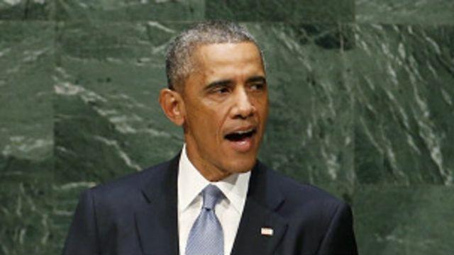 صدر اوباما نے اقوام متحدہ کی جنرل اسمبلی کے اجلاس سے خطاب کرتے ہوئے دولتِ اسلامیہ کو' موت کا نیٹ ورک' قرار دیا