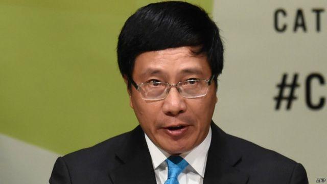 越南副总理兼外长范平明(23/09/2014)