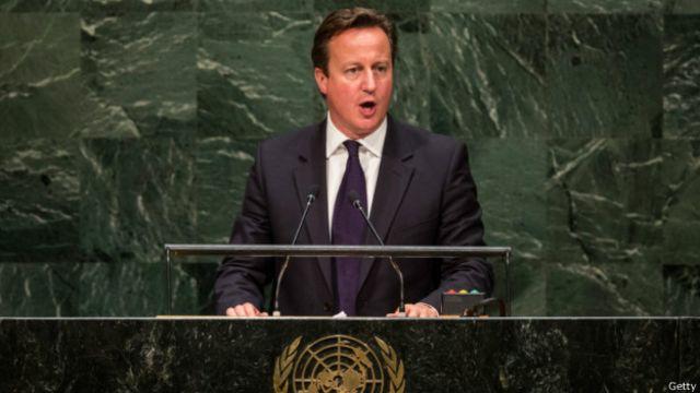 英国首相卡梅伦(24/09/2014)