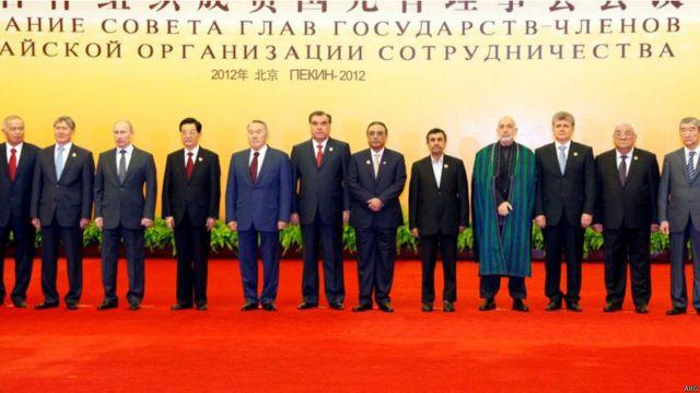 حامد کرزی در دوازدهمین اجلاس همکاری های شانگهای، پکن چین، ژوئن ۲۰۱۲