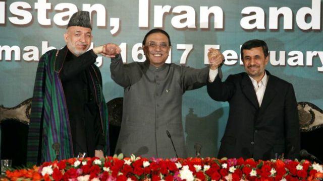 نشست سه جانبه افغانستان، ایران و پاکستان با حضور روسای جمهور سه کشور در پاکستان، فوریه ۲۰۱۲.