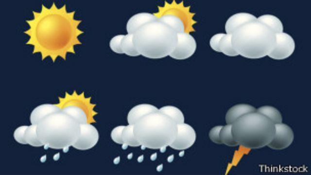 íconos del pronóstico meteorológico