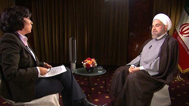 حسن روحانی در جریان سفرش به نیویورک با کریستین امانپور از سیانان مصاحبه کرده است